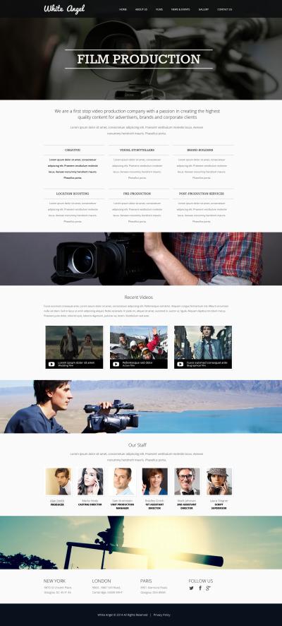 Адаптивный HTML шаблон №47548 на тему видеооператор