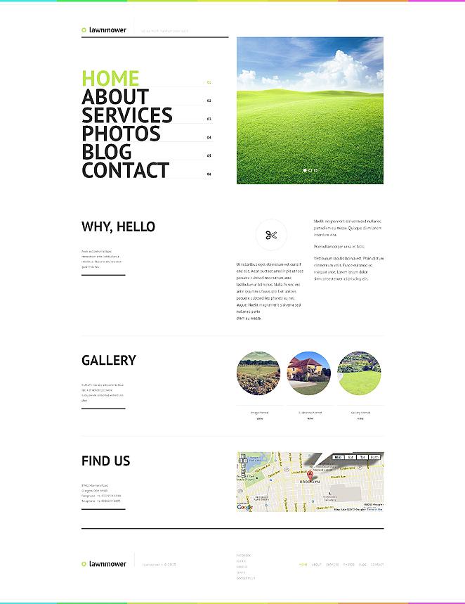 Адаптивный шаблон сайта на тему ландшафтный дизайн #47531