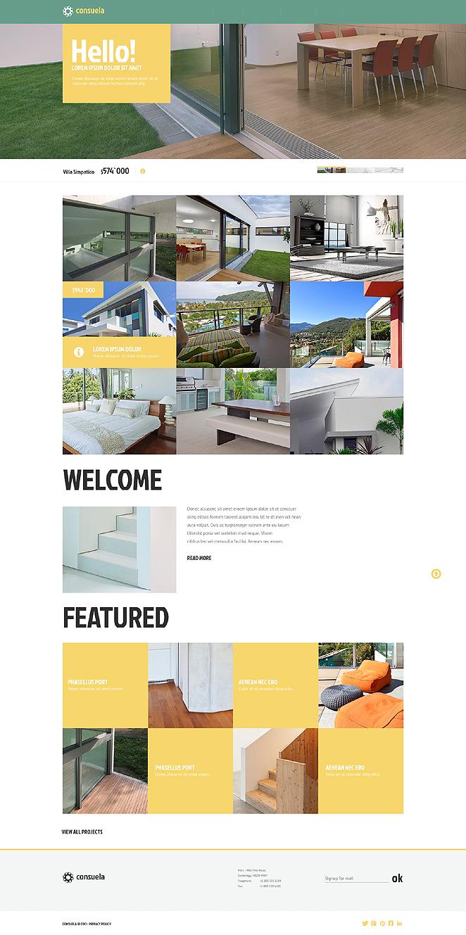 Адаптивный шаблон сайта на тему строительные компании #47532
