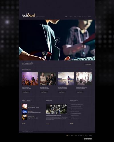 Адаптивный WordPress шаблон №47539 на тему музыкальная группа