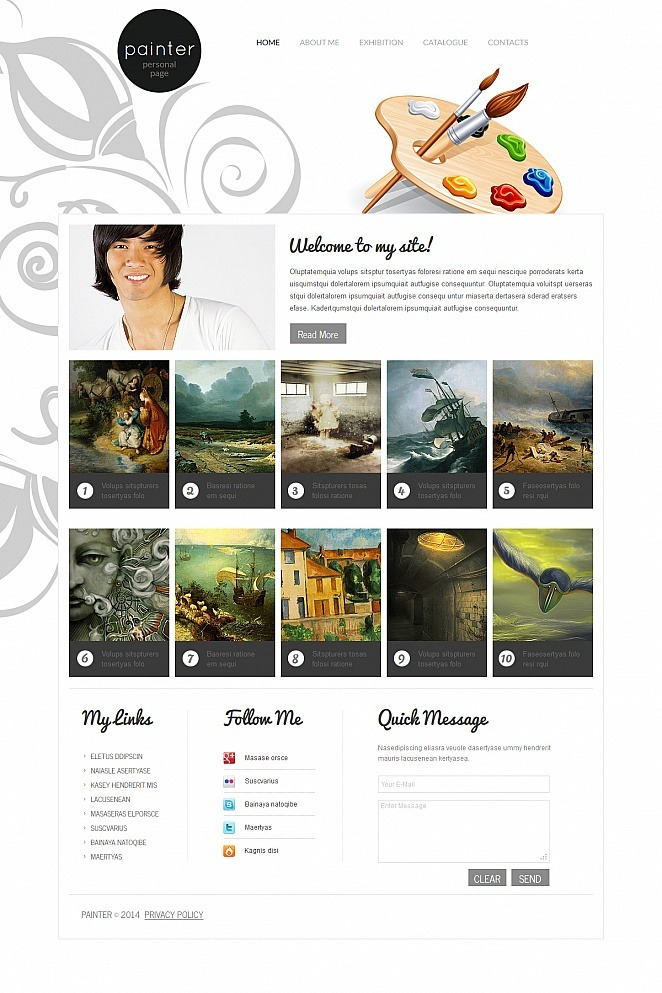 Artist Portfolio Moto CMS HTML Template New Screenshots BIG