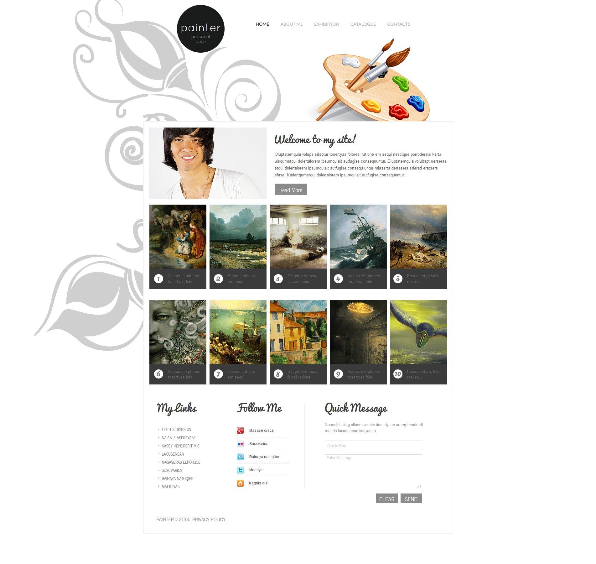 Artist Portfolio Moto CMS HTML Template