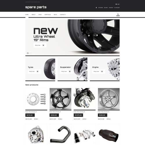Spare Parts - WooCommerce Template based on Bootstrap