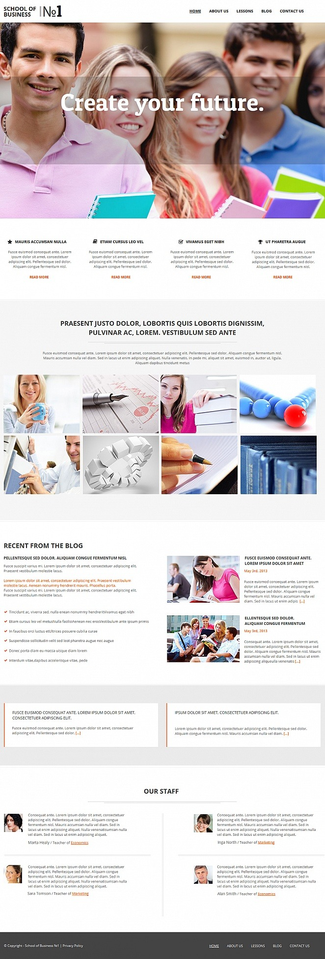 Business School Moto CMS HTML Template New Screenshots BIG