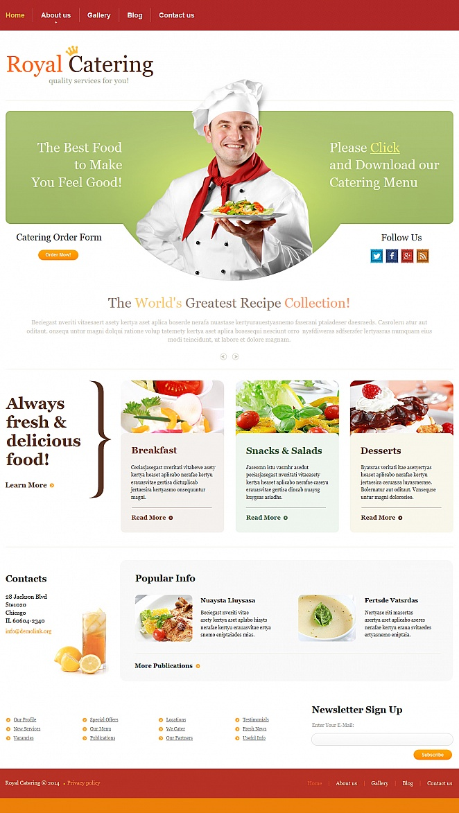 Catering Moto Cms Html Template #47574