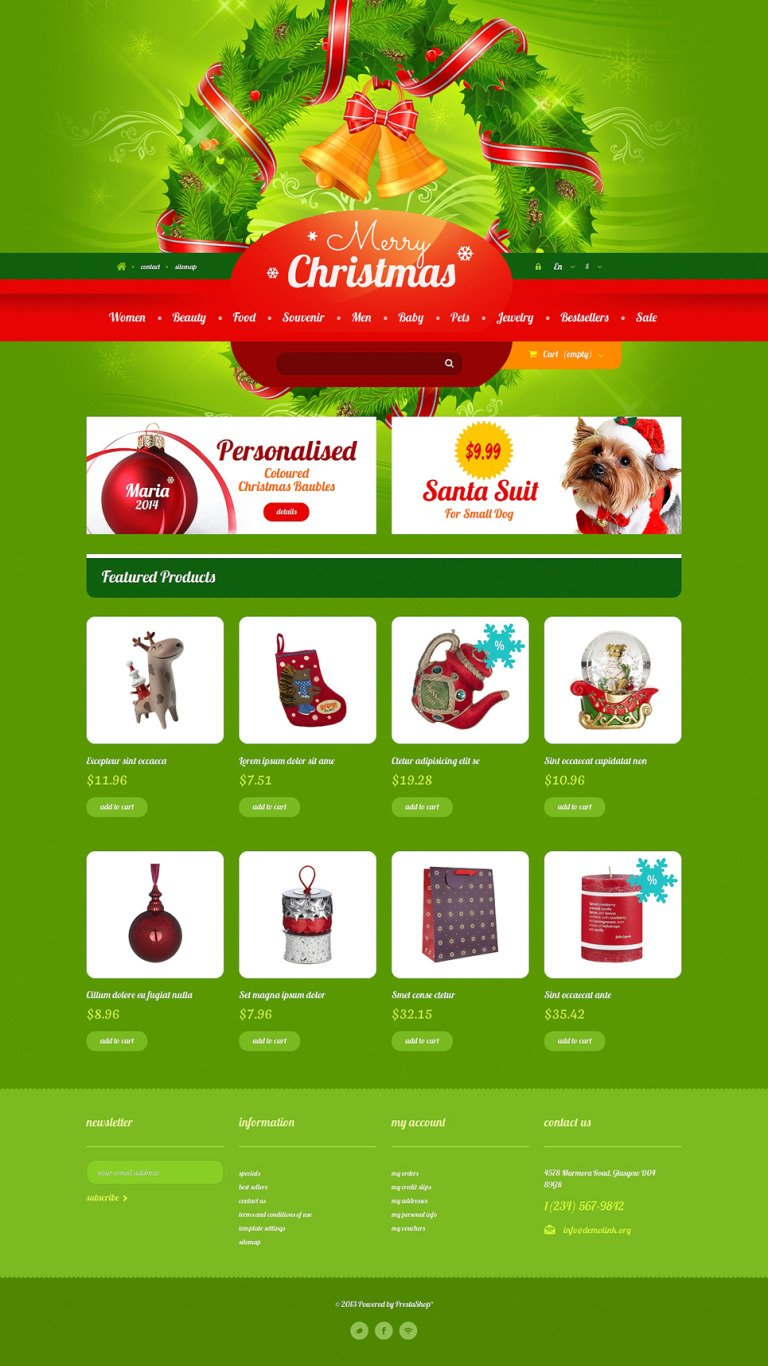 Christmas Gift Shop PrestaShop Theme New Screenshots BIG