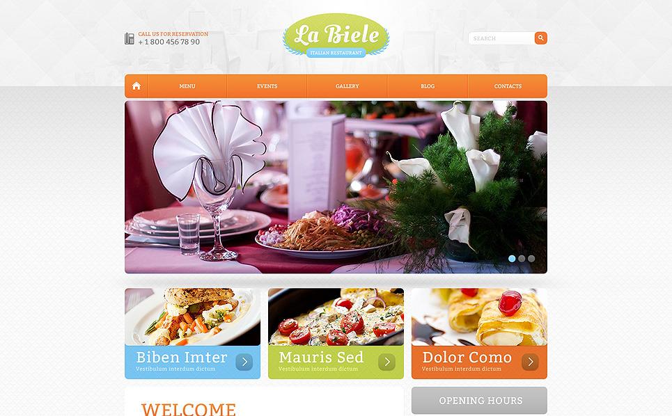 Drupal шаблон №47585 на тему итальянский ресторан New Screenshots BIG
