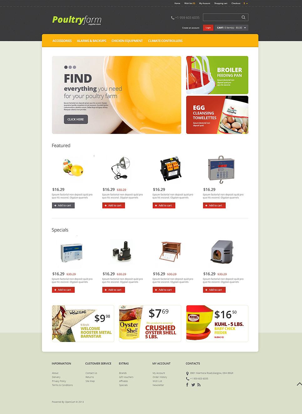 Farm Supplies Store OpenCart Template New Screenshots BIG
