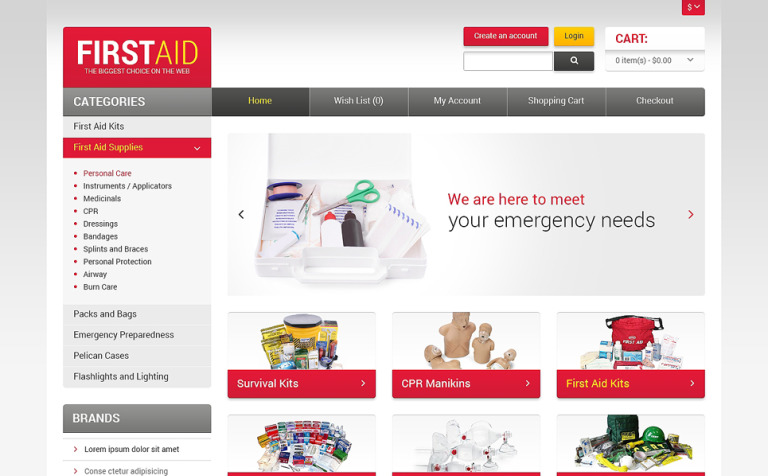 First aid store opencart template 47557 first aid store opencart template new screenshots big fandeluxe Choice Image