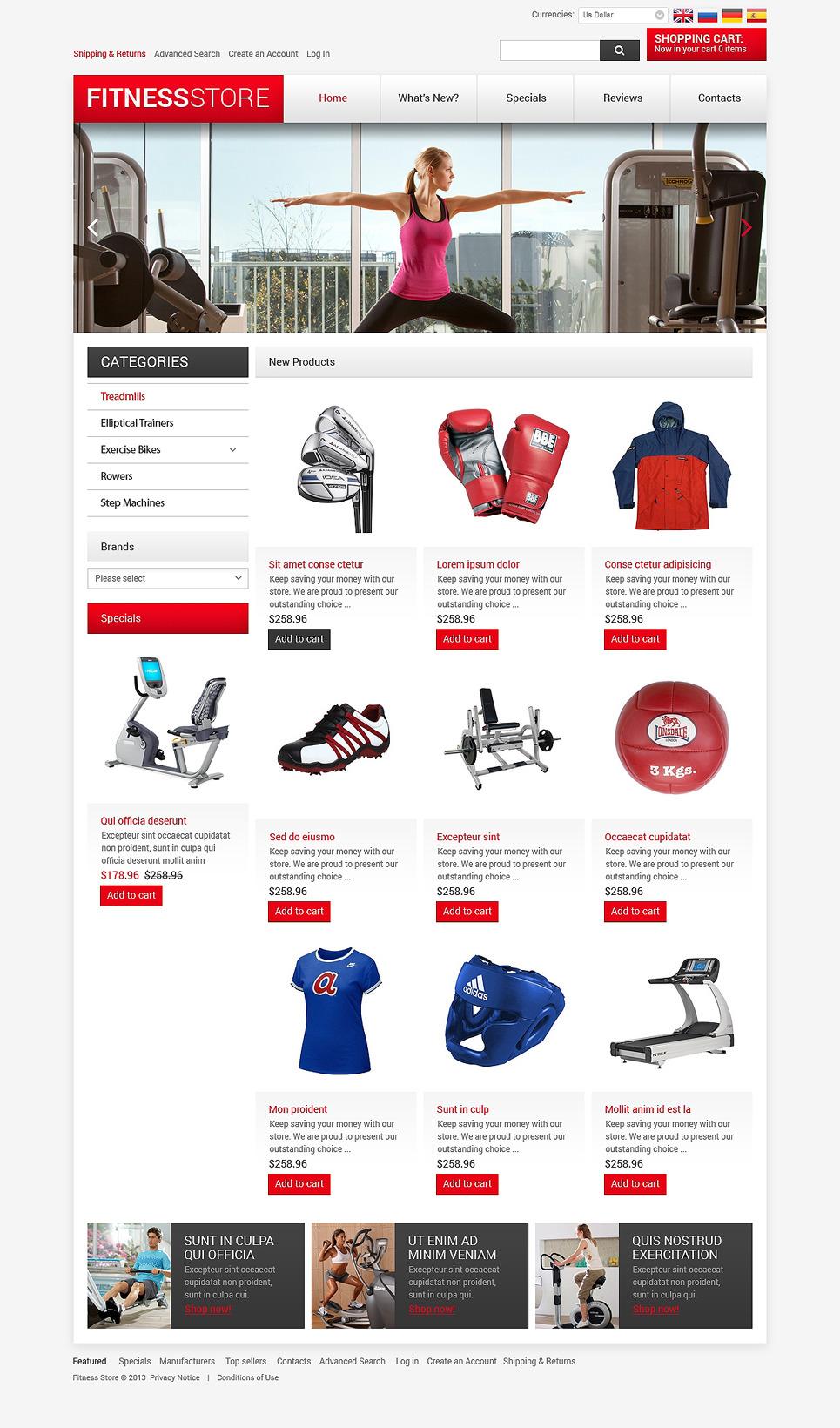 Fitness Easily OsCommerce Template #47520