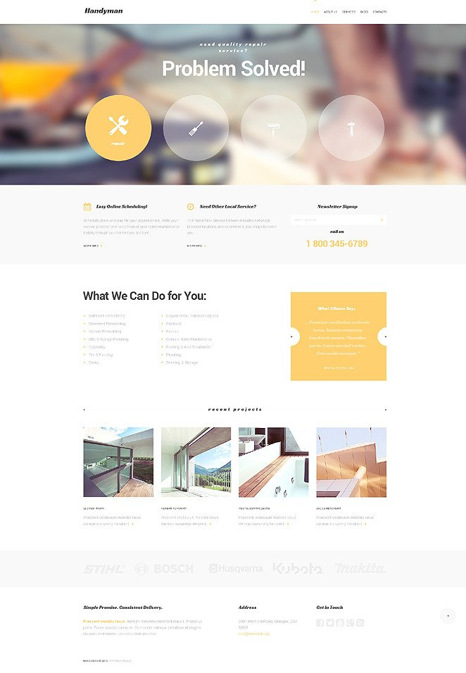 Handymans Promotion WordPress Theme New Screenshots BIG