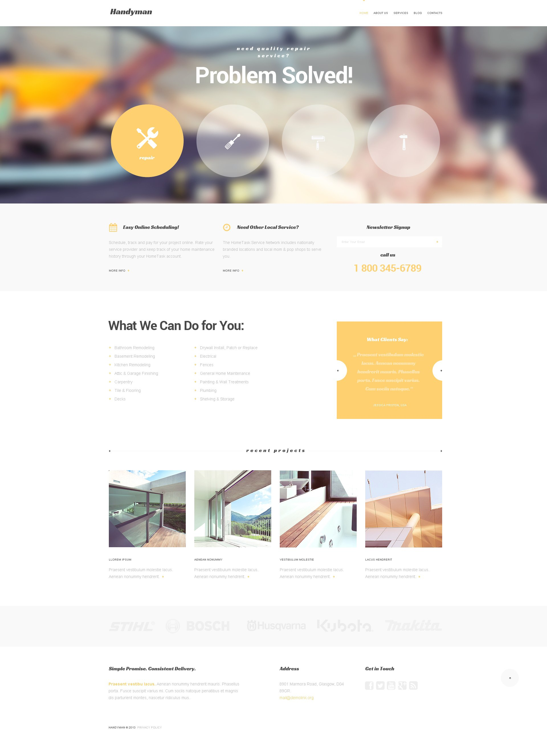Handymans Promotion WordPress Theme