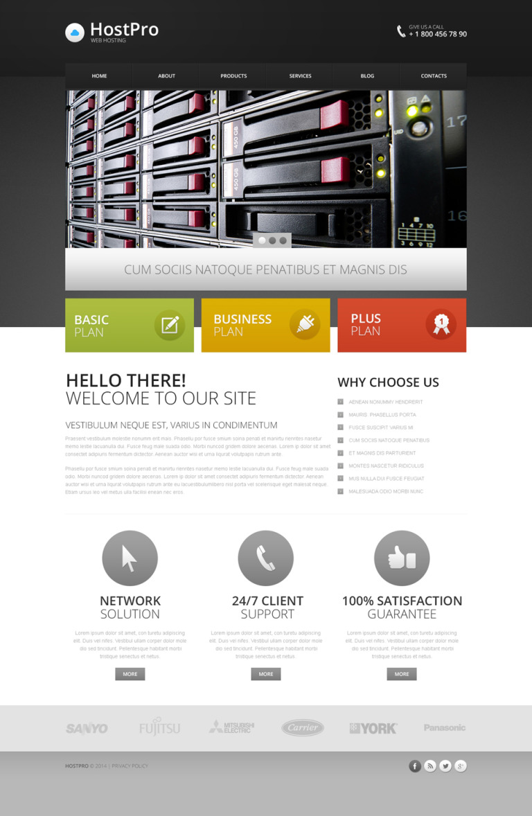 Hosting Responsive Drupal Template New Screenshots BIG
