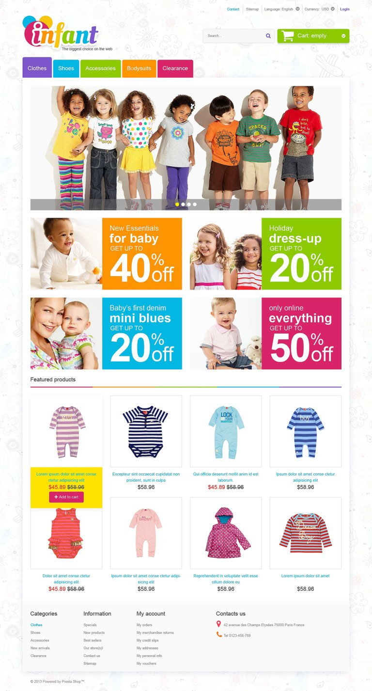 Infant Care PrestaShop Theme New Screenshots BIG