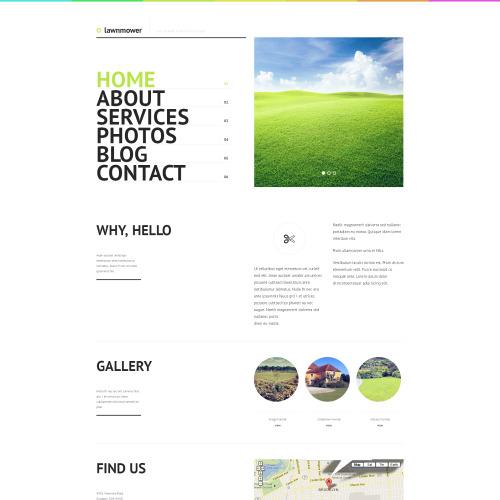 Lawnmower - WordPress Template based on Bootstrap