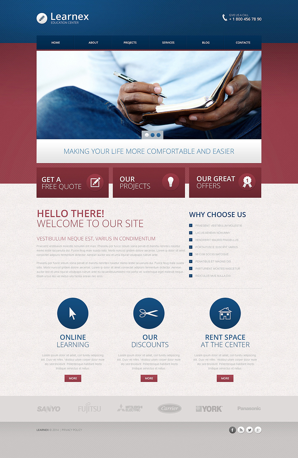 Library Responsive Drupal Template New Screenshots BIG