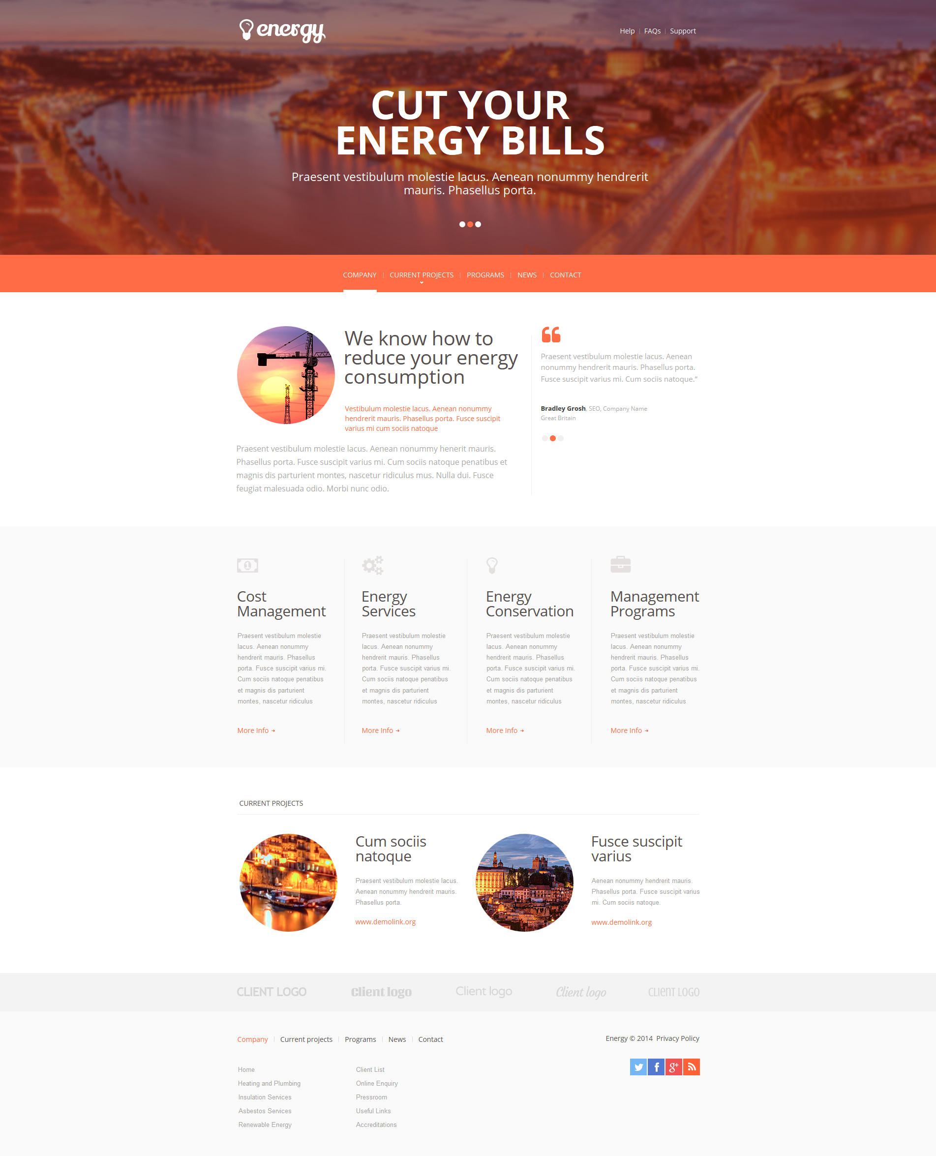 Lighting & Electricity Moto CMS HTML Template