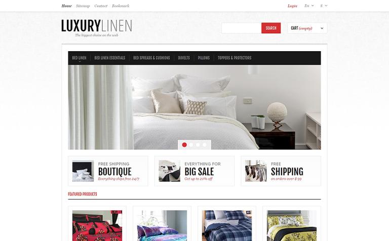 Luxurious Bed Linen PrestaShop Theme