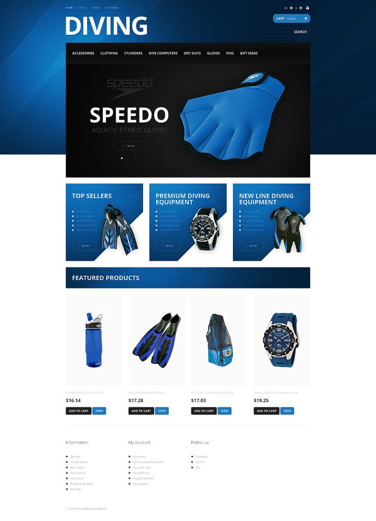 Majestic Diving PrestaShop Theme New Screenshots BIG