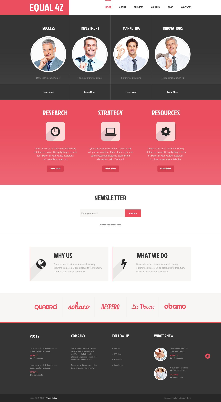 Marketing Agency Responsive WordPress Theme - screenshot
