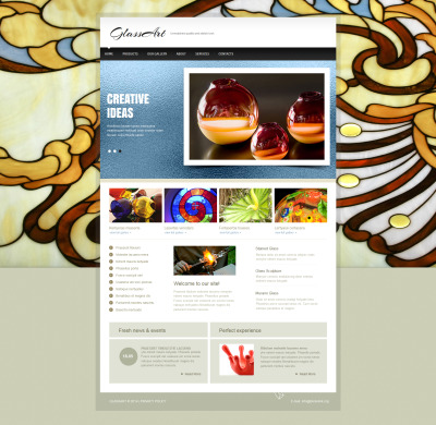 Moto CMS HTML Vorlage für Kunst