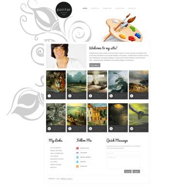 Moto CMS HTML Vorlage #47569 für Künstler-Portfolio