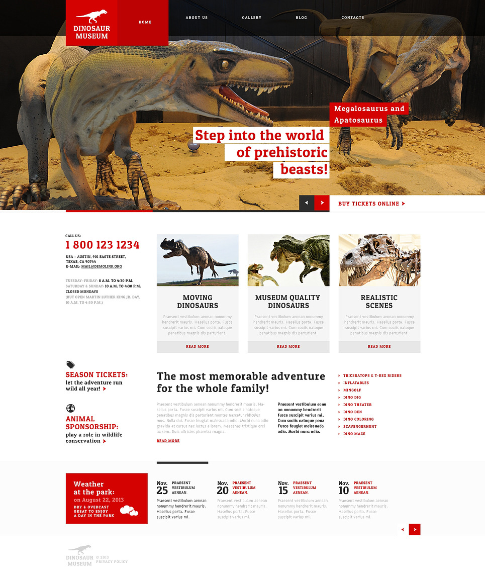 Museum Responsive WordPress Theme New Screenshots BIG