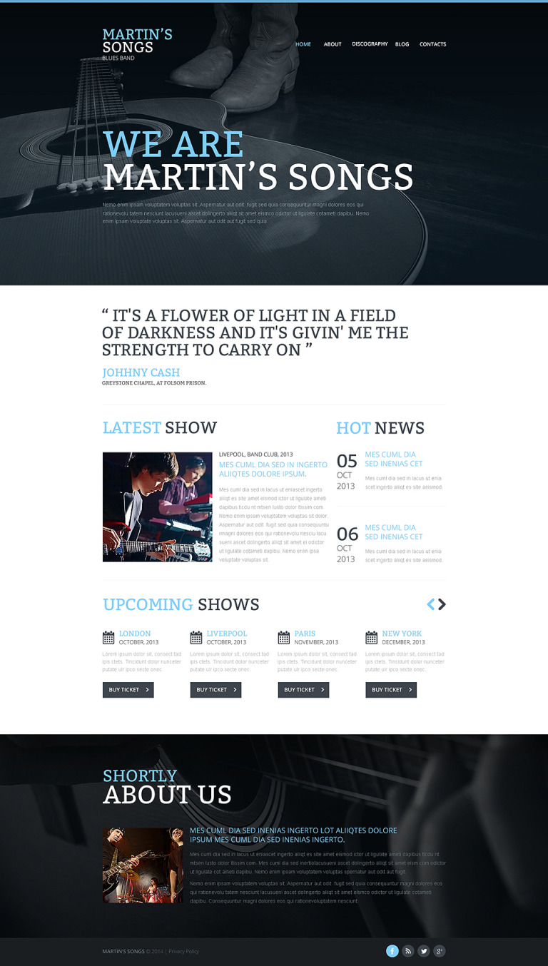 Music Band Responsive Website Template New Screenshots BIG