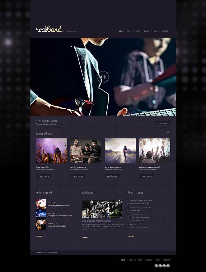Music Band Responsive WordPress Theme New Screenshots BIG