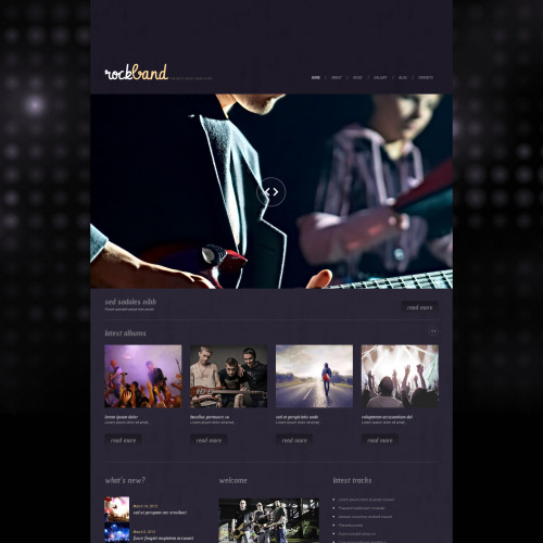 Rock Band - WordPress Template based on Bootstrap
