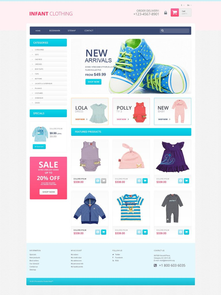 Newborn PrestaShop Theme New Screenshots BIG