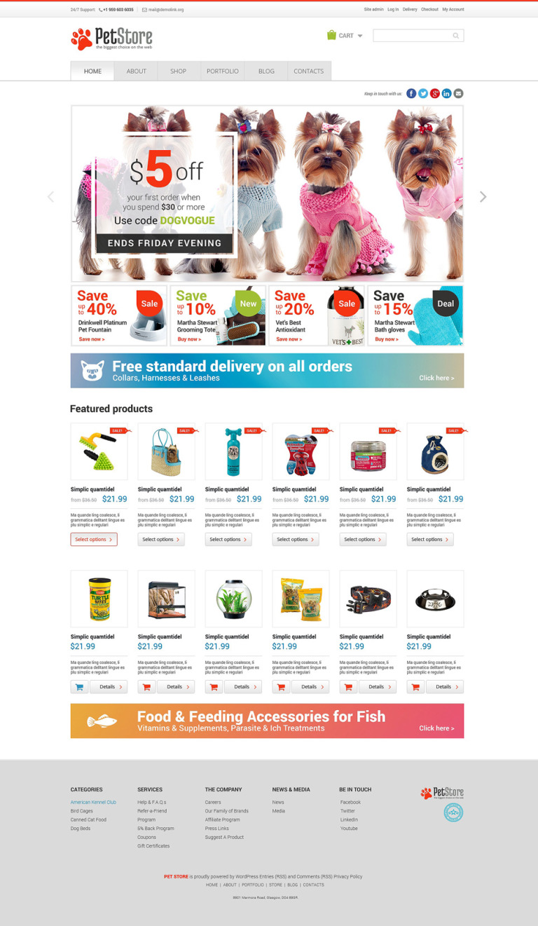 Pet Shop Responsive WooCommerce Theme New Screenshots BIG