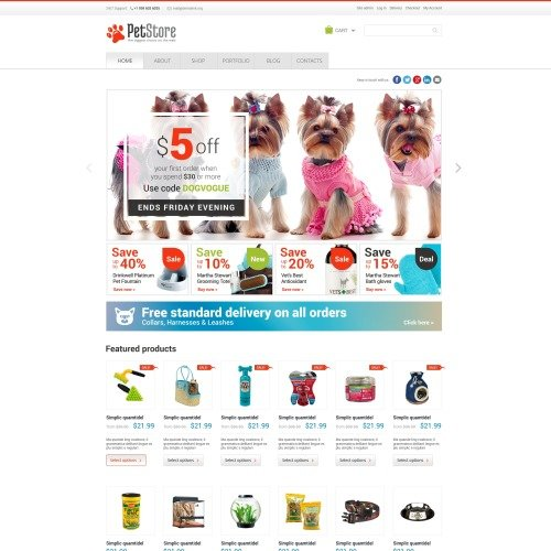 Pet Shop - Woo Commerce Template based on Bootstrap