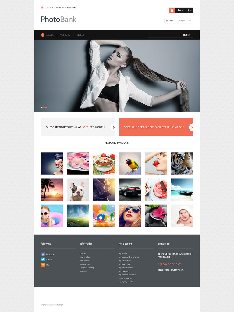 Photo and Video Content PrestaShop Theme New Screenshots BIG