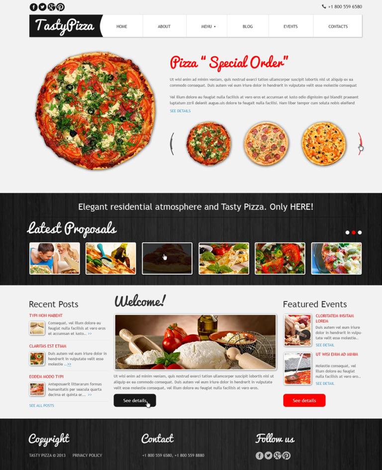 Pizza to Kill Hunger Joomla Template New Screenshots BIG