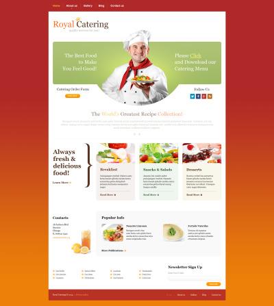 Plantilla Moto CMS HTML #47574 para Sitio de  para Sitio de Catering
