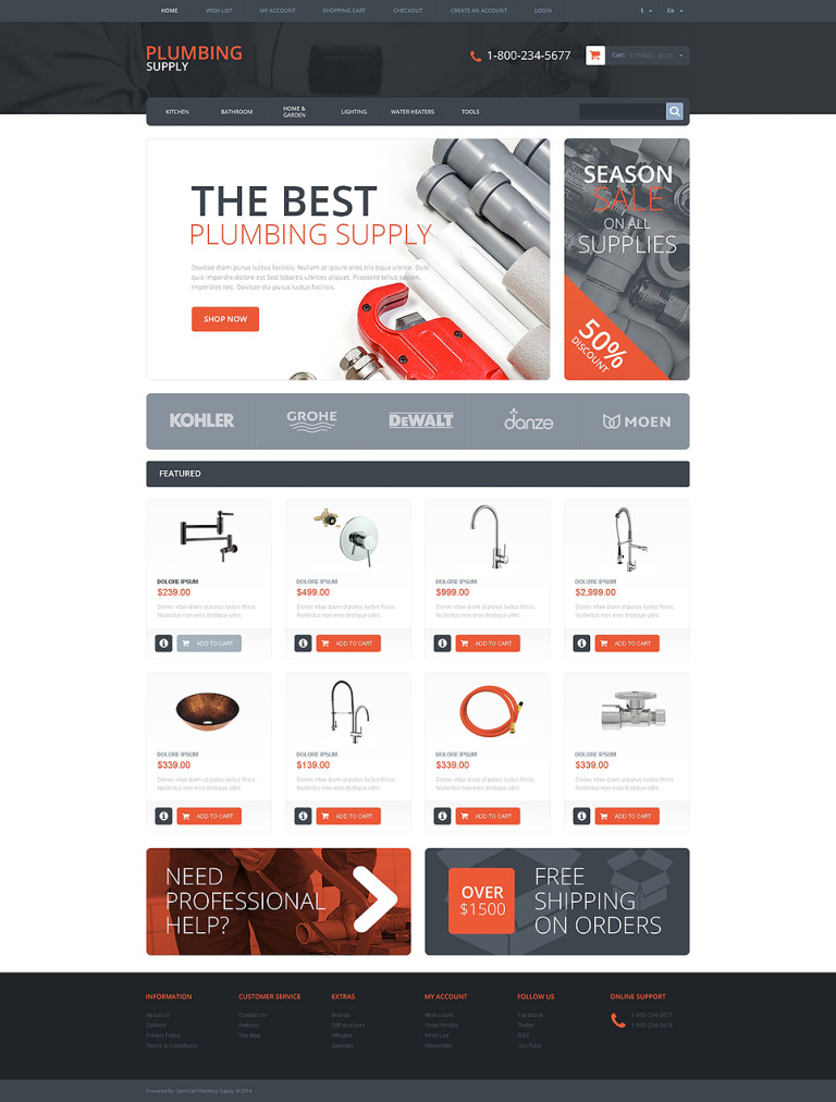 Plumbing Responsive OpenCart Template New Screenshots BIG