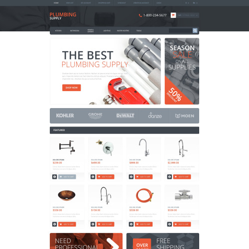 Plumbing Supply - OpenCart Template based on Bootstrap