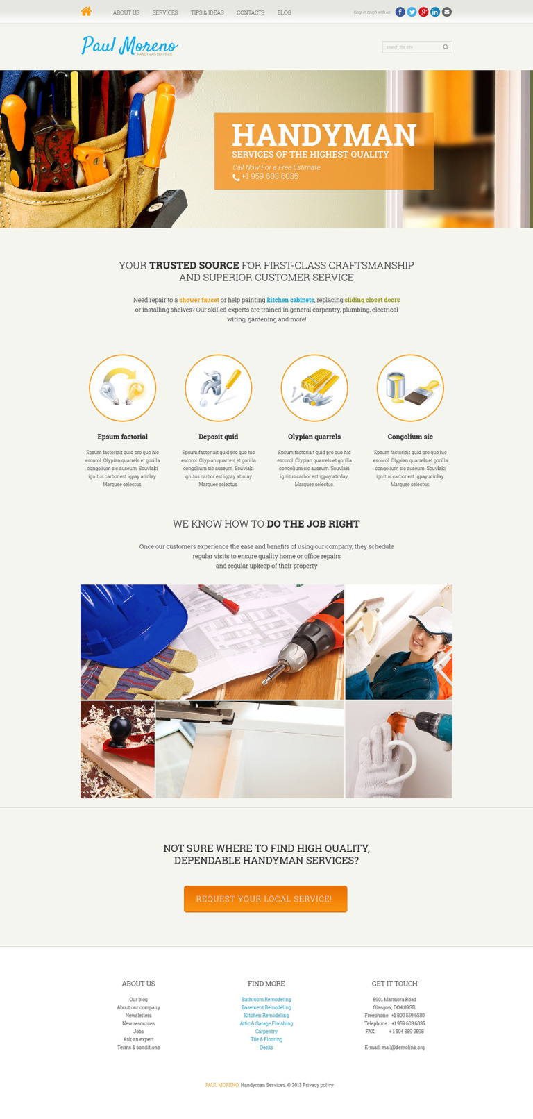 Proper Handyman Services Joomla Template New Screenshots BIG