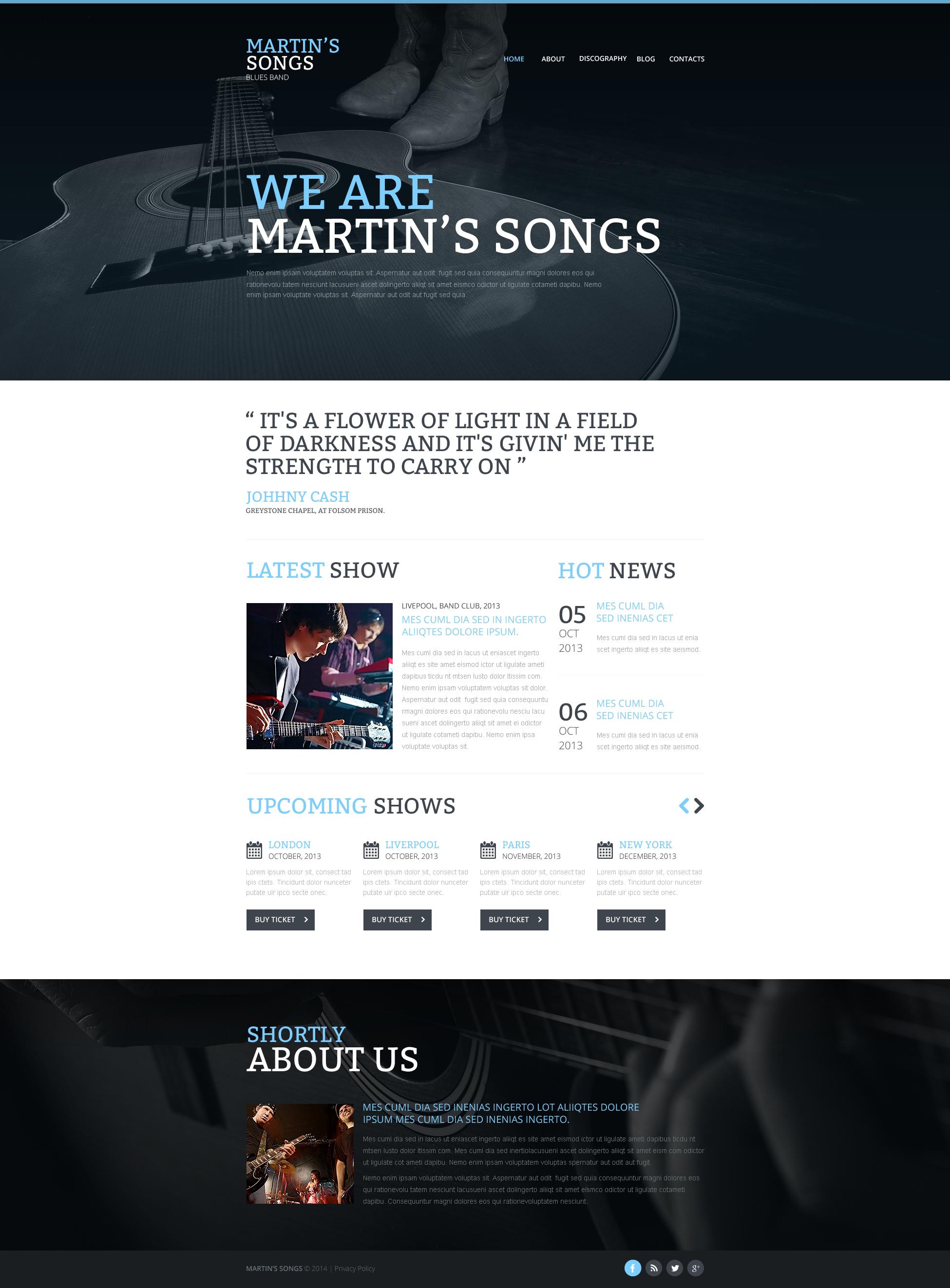 Responsive Müzik Grubu Web Sitesi #47547