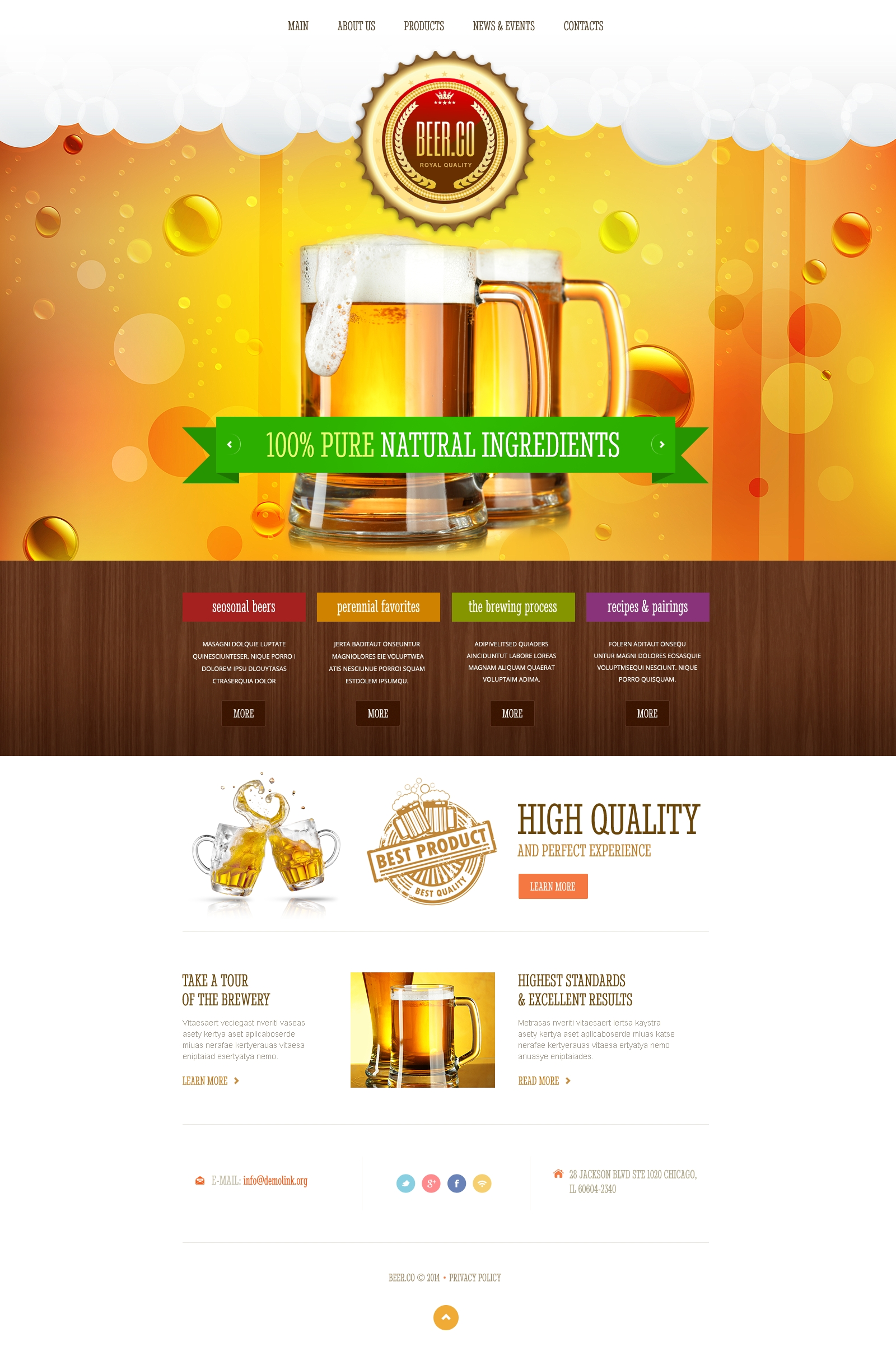 Responsive Website template over Brouwerij №47592
