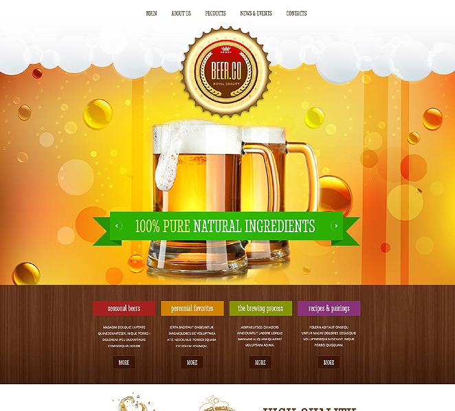 Responsive Website template over Brouwerij  New Screenshots BIG
