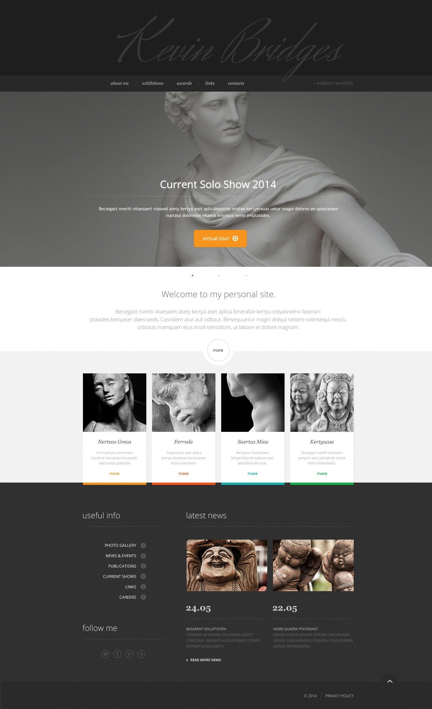 Responsive Website Vorlage für Skulptur #47583 - Screenshot