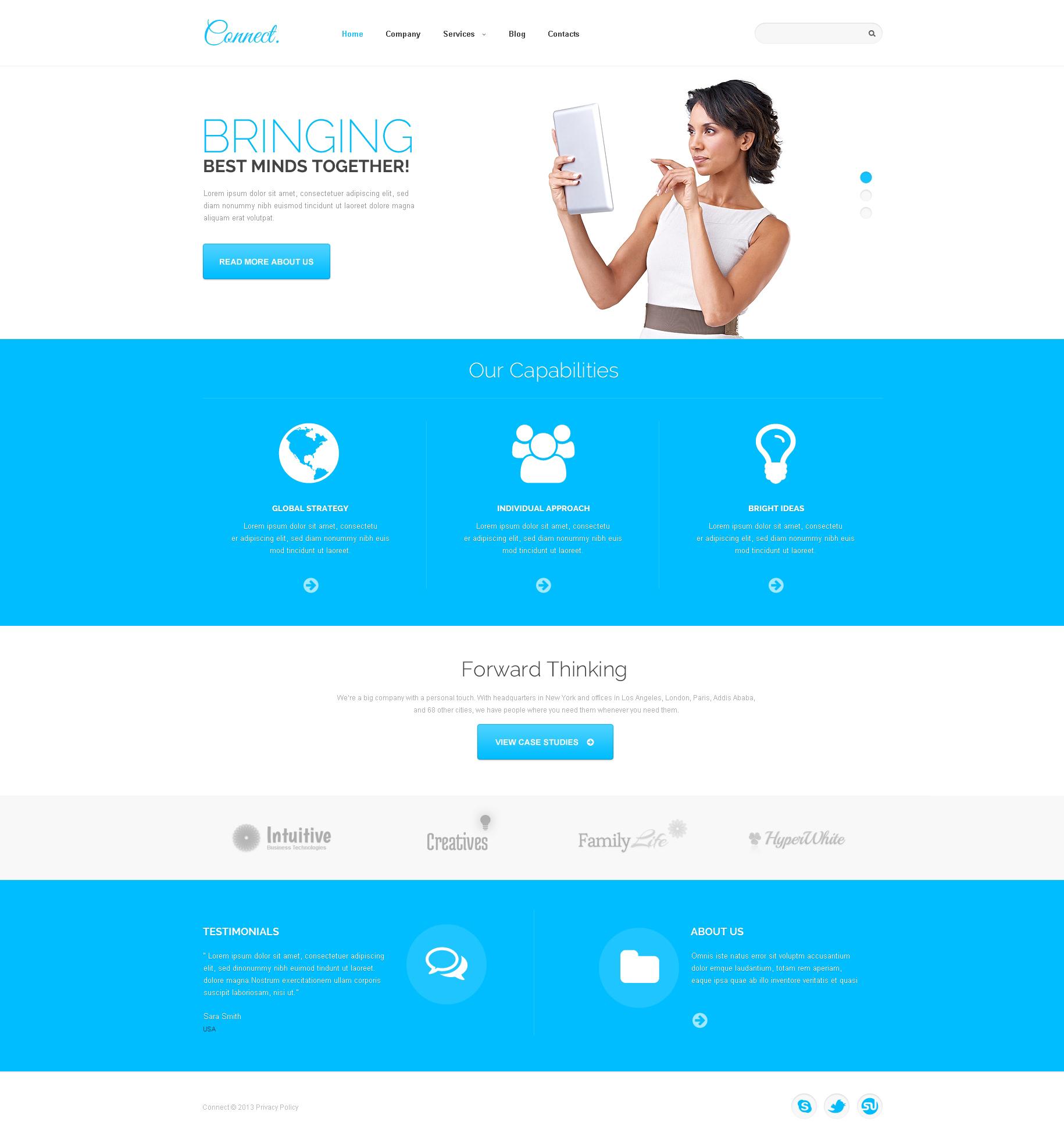 Responsive WordPress thema over Communicaties №47537 - screenshot
