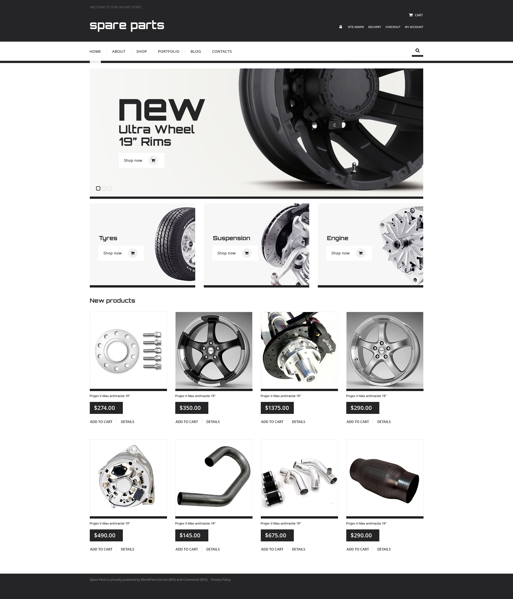 Responsywny motyw WooCommerce #47530 na temat: części samochodowe