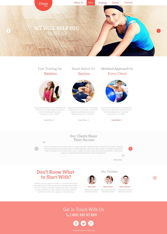 Responzivní Šablona webových stránek na téma Fitness #47546