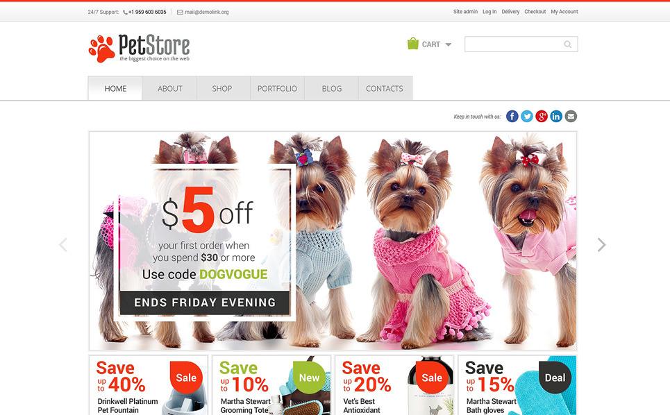 Reszponzív Állatkereskedések WooCommerce sablon New Screenshots BIG