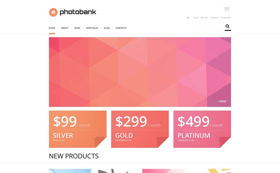 Reszponzív Stock fényképek WooCommerce sablon New Screenshots BIG