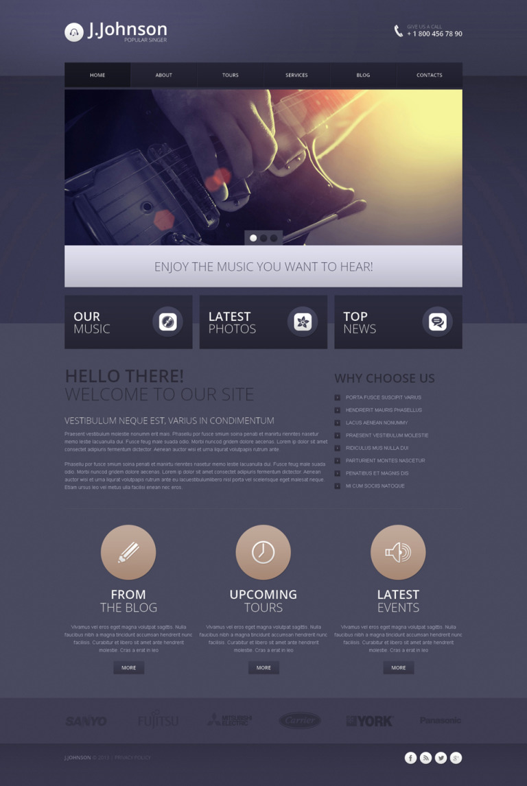 Singer Responsive Drupal Template New Screenshots BIG