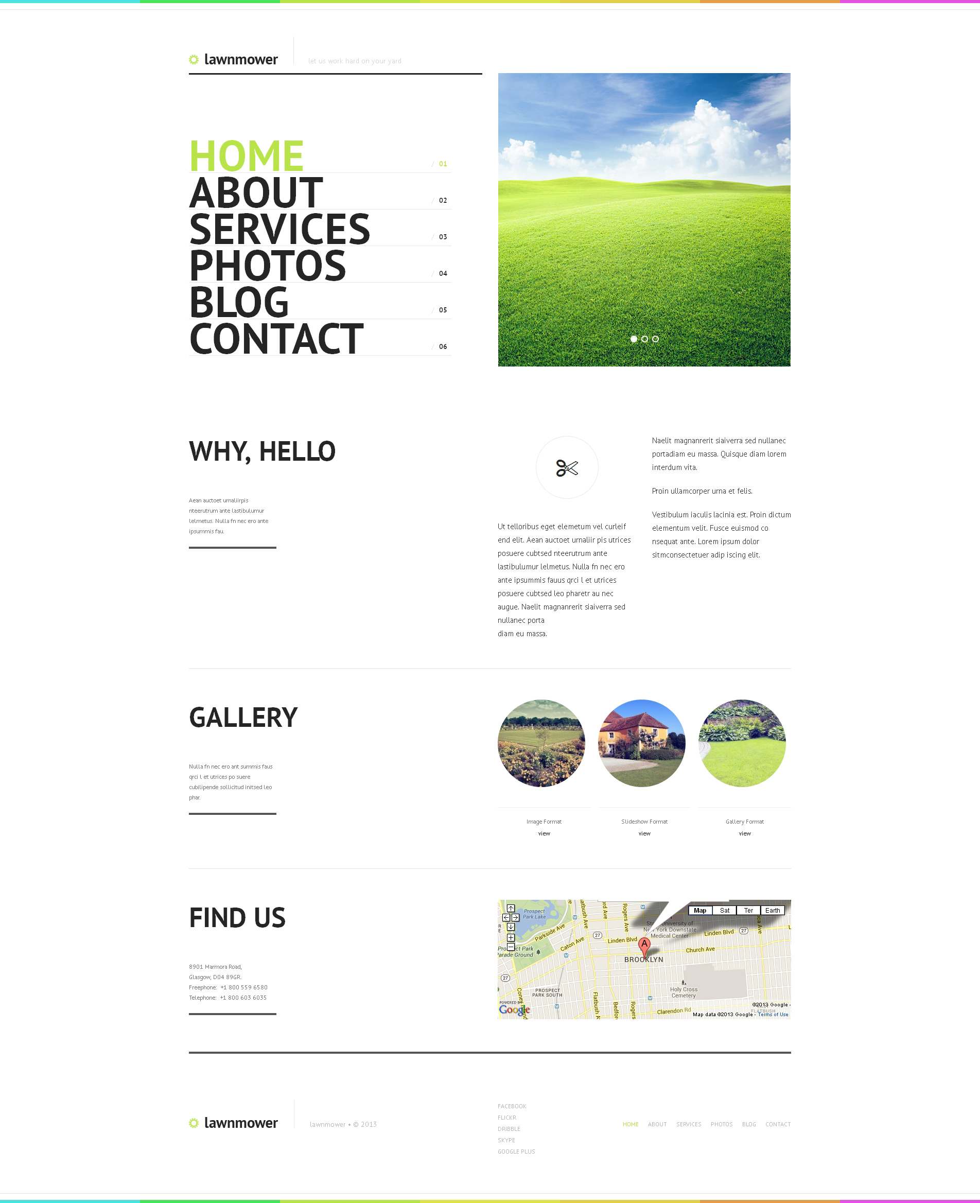 Tema De WordPress Responsive para Sitio de Diseño de paisaje #47531